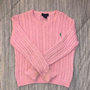 Kids Light Pink Ralph Lauren Sweater